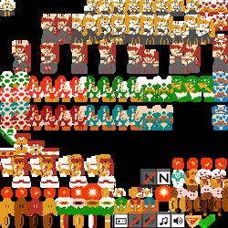 8-bit SMB DMCA Battle Royale - Bowsette Set 2 by Kazufox