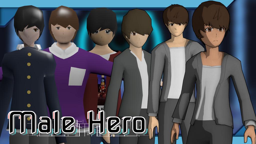 CyberThreat - Male Hero Progress by KonoRBeatz