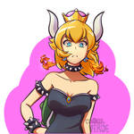 Late but i did my own Bowsette