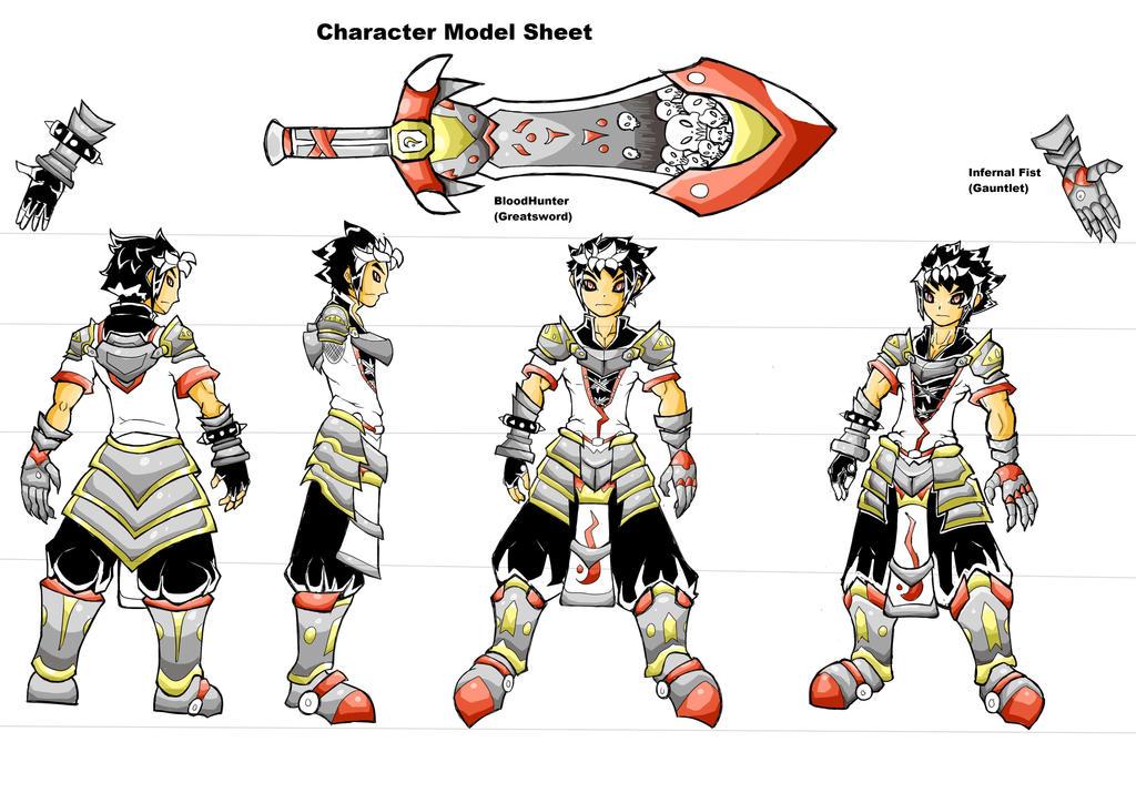 Character Model Sheet Jugo By Bexdragon