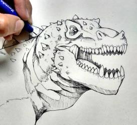 T-rex by bexdragon