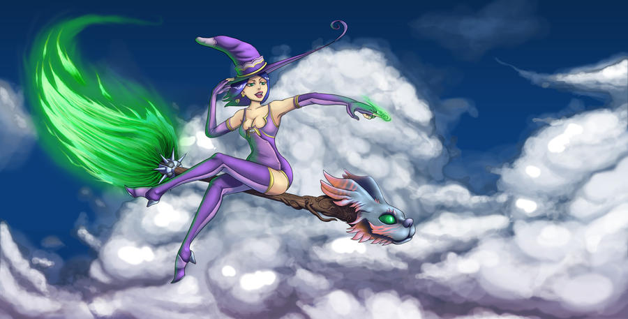 The Flying Sorcerer by Holyengine