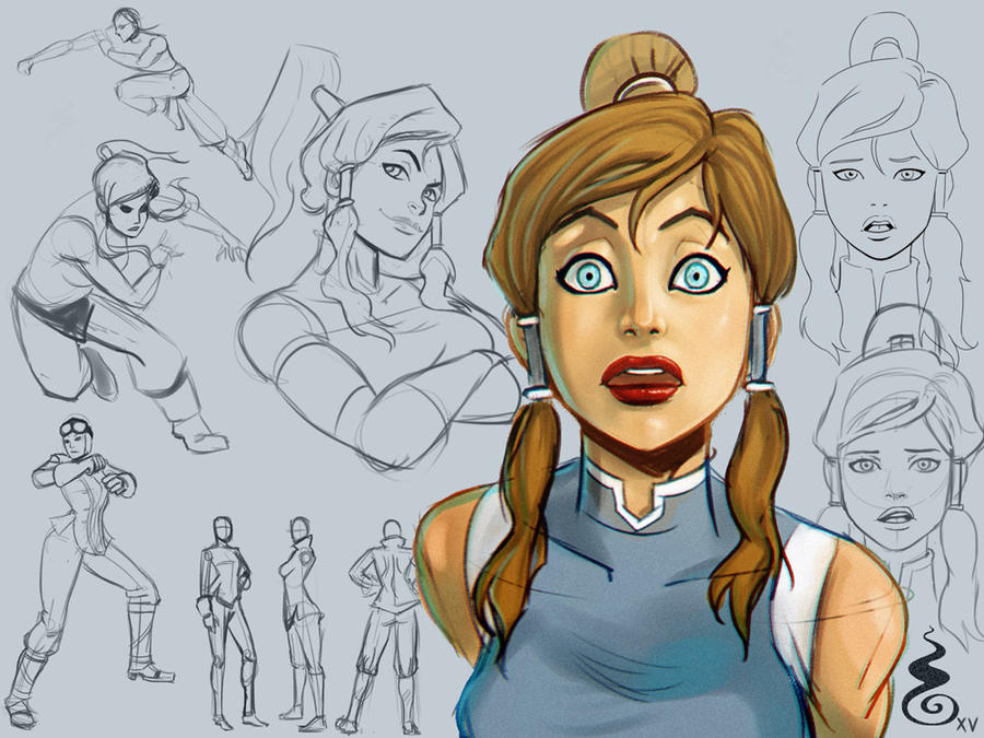 Twitch Sketchy session 26th January 2015 Korra by Holyengine