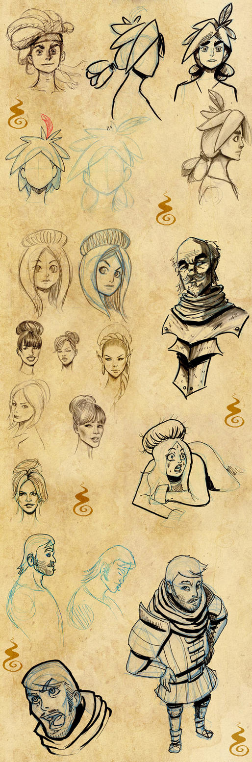 Character Design Session : Comics project character designs by holyengine on deviantart
