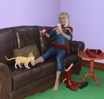 Carol relaxing