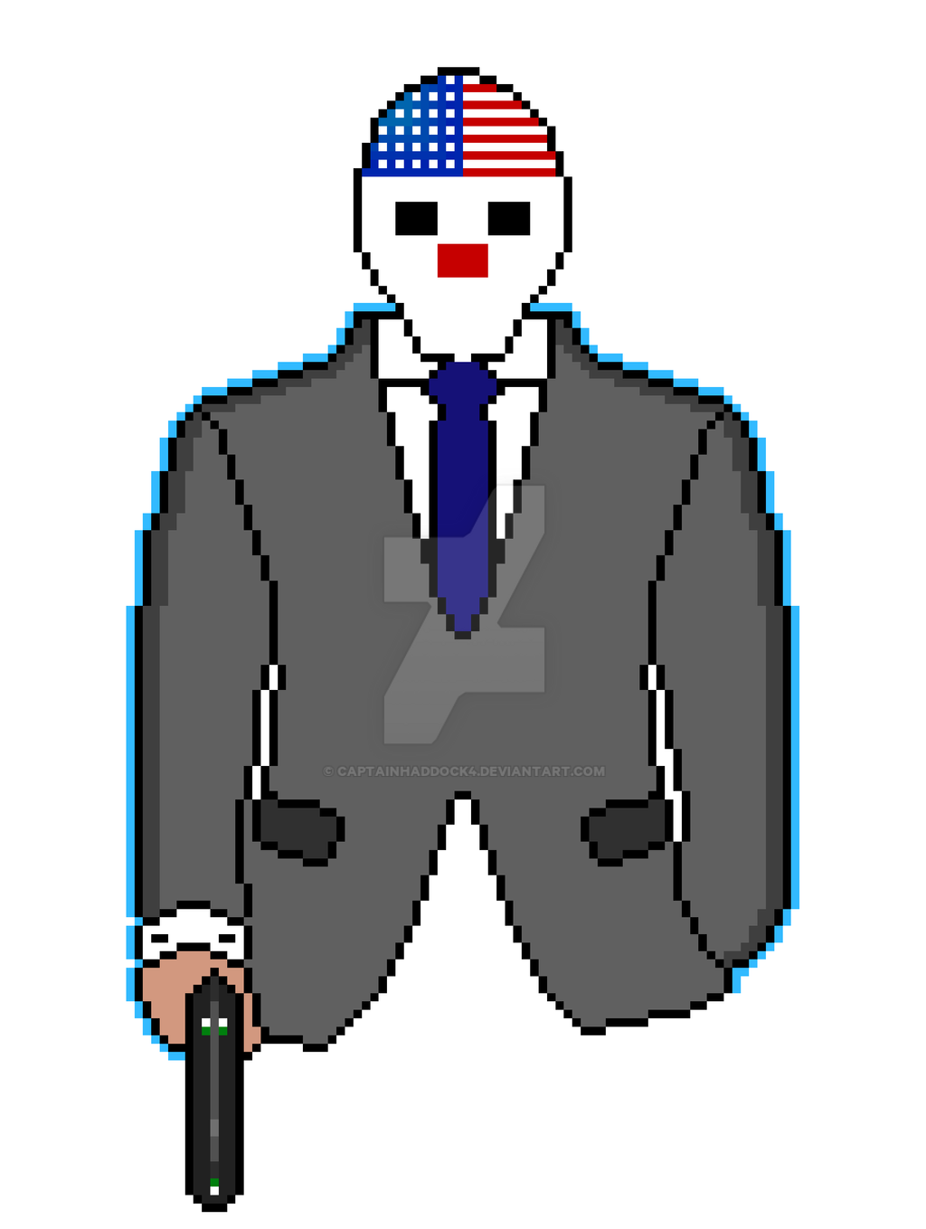 Payday 2 Dallas Pixel by CaptainHaddock4