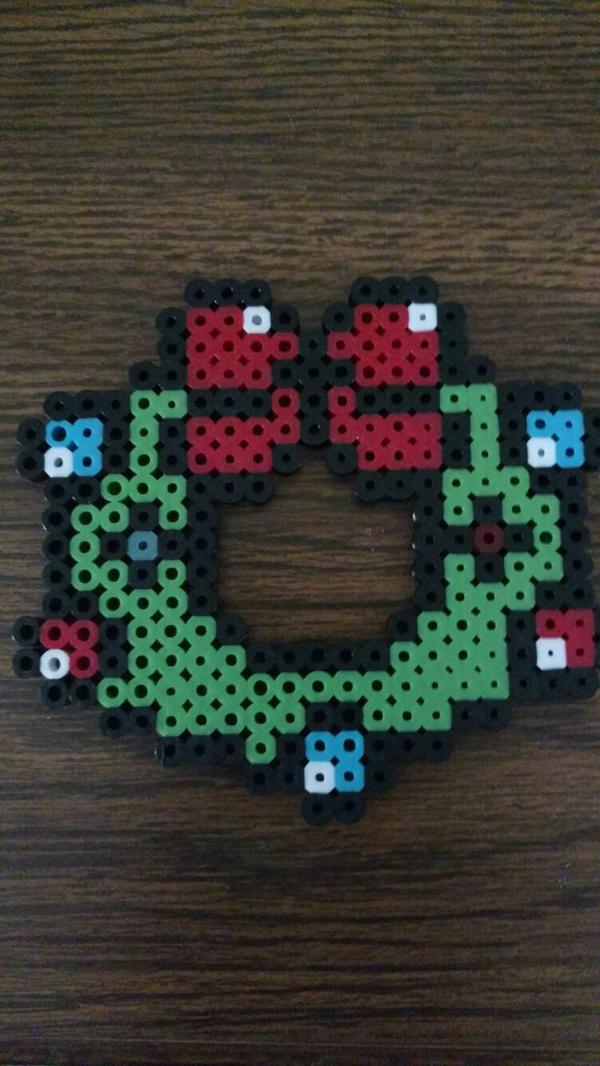Holiday wreath by MsTrinaMarsh