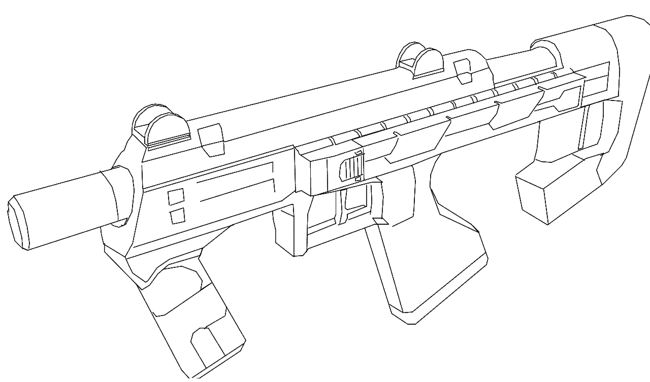 Machinegun free colouring pages for Pistol coloring pages