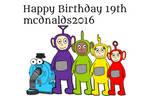 Happy Birthday mcdnalds2016