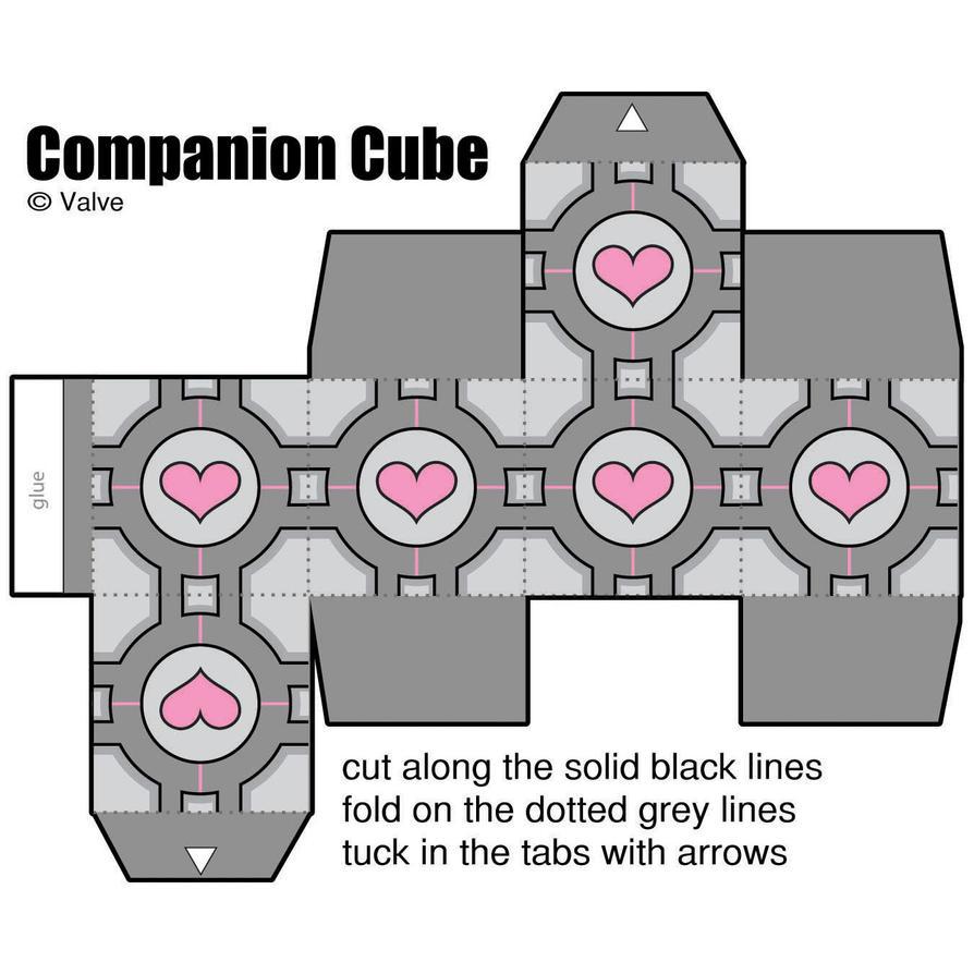 cube box template printable