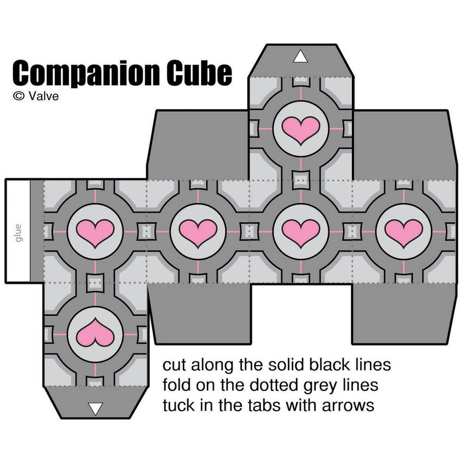 paper companion cube by manda-pie