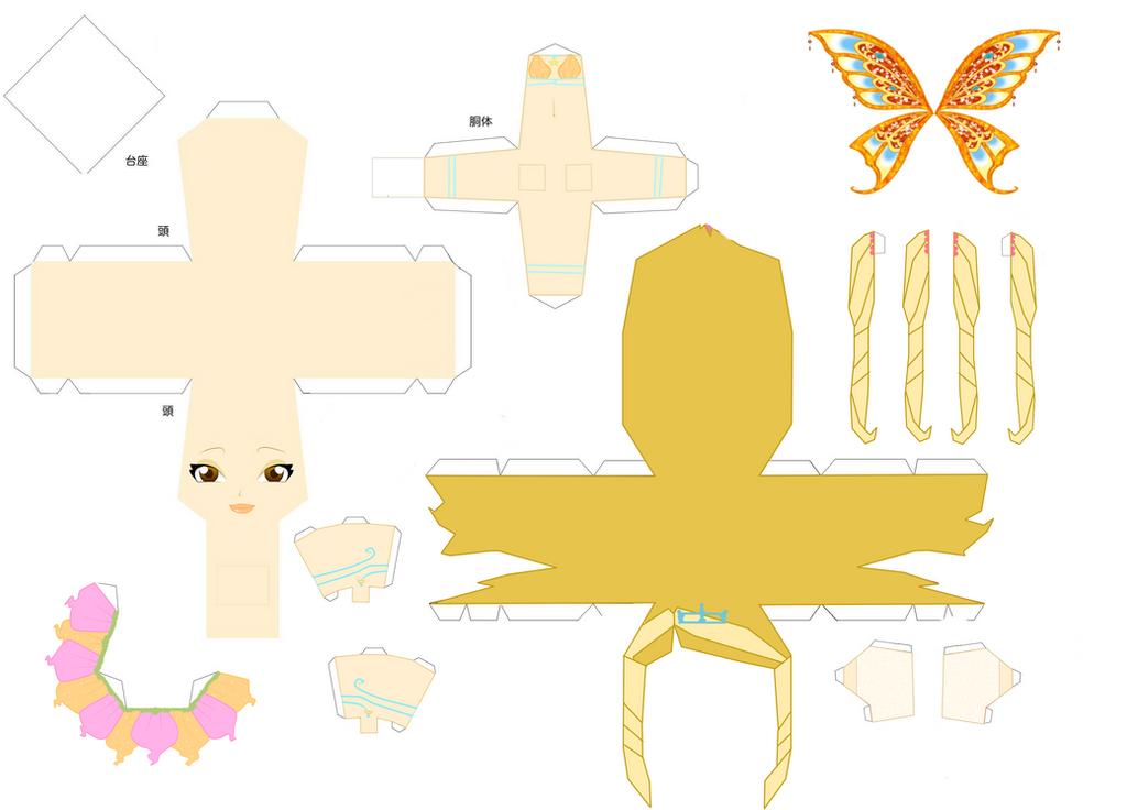 Stella Enchantix Papercraft by Encentix