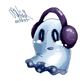 Napstablook Pixel by Daleeny