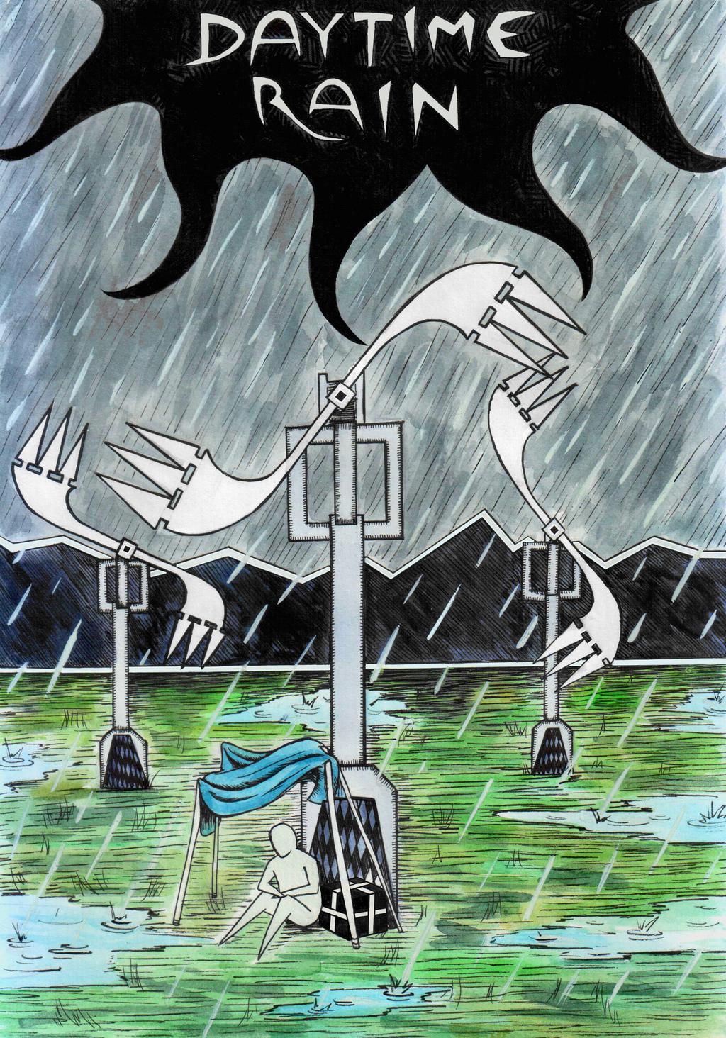 Daytime Rain by Djigallag