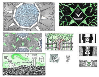 Trilogy Background Sketches by Djigallag