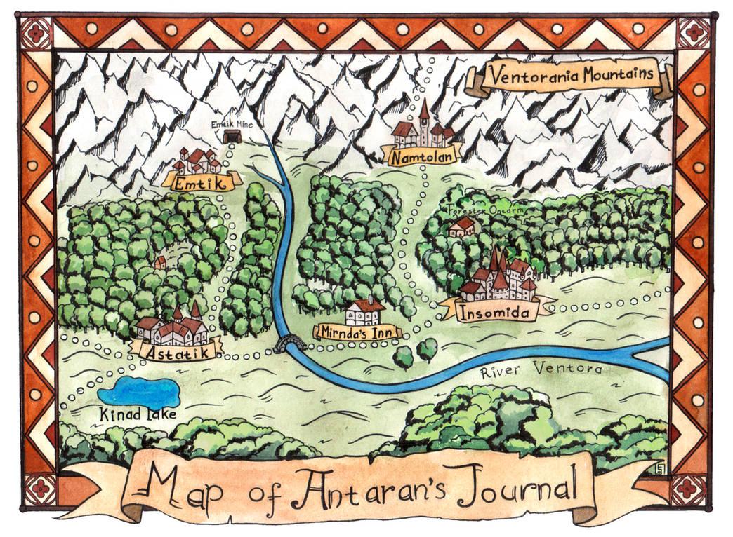 Antaran's Lournal Adventure Map by Djigallag