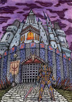 Castle Under Purple Sky