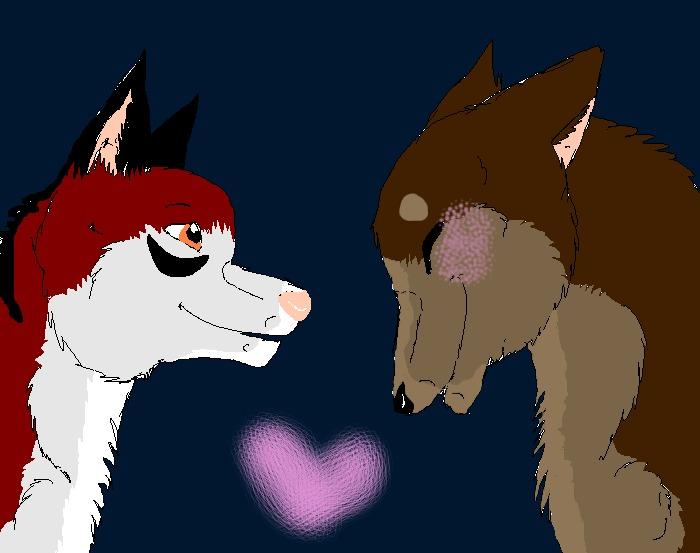 Kialle hahmonsa Kokoro ja Micka. Rakastan tätä paria <3