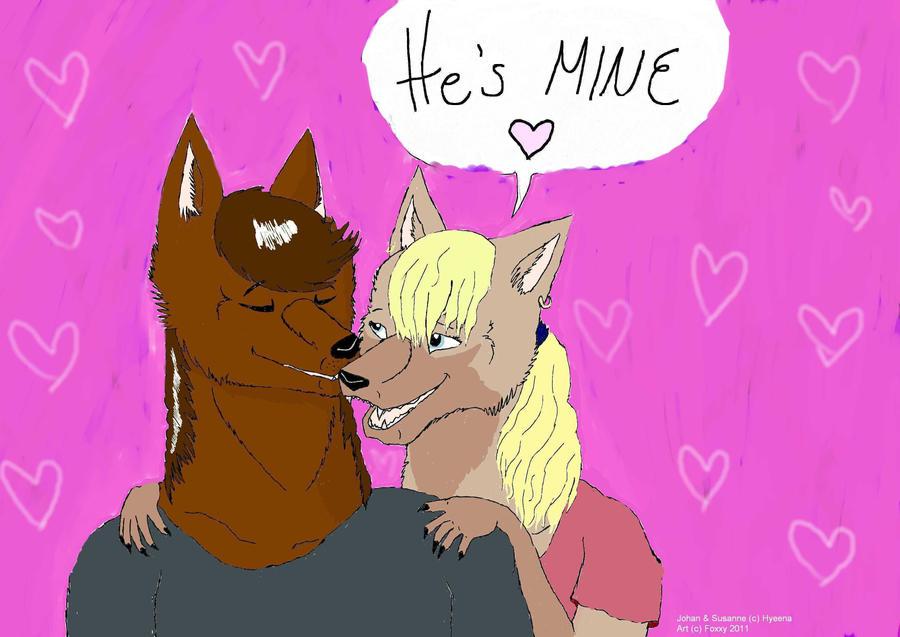 Hyeenan hahmot Johan ja Susanne.