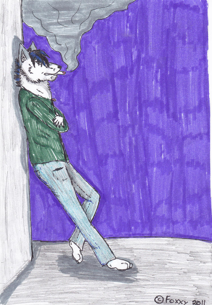 yksi ensimmäisistä kuvista, joita olen piirtänyt Torleifista.