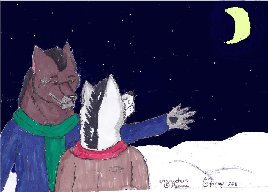 Hyeenalle uudenvuodenkortti, vuosi 2012