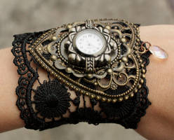Steampunk watches by Pinkabsinthe
