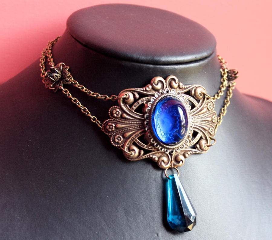 Steampunk Gothic Necklace by Pinkabsinthe