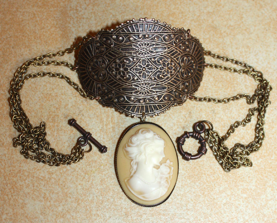 Victorian Cameo Gothic choker by Pinkabsinthe