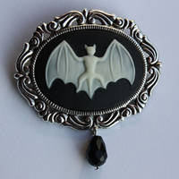 Bat Gothic Brooch by Pinkabsinthe