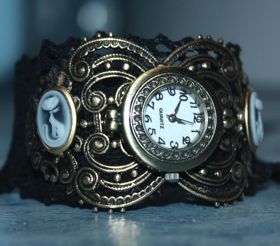 Satovi ,casovnici,vreme... Steampunk_kitties_watches_by_pinkabsinthe-d31cfcl