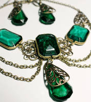 Royal Green Gothic necklace by Pinkabsinthe