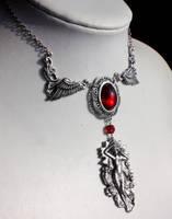 Bloody Aurora Necklace by Pinkabsinthe