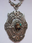 Steampunk wings pendant