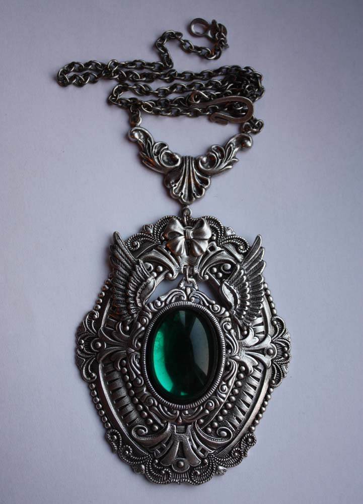 Green stone steampunk pendant by pinkabsinthe on deviantart green stone steampunk pendant by pinkabsinthe mozeypictures Gallery