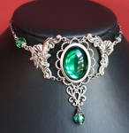 Emerald fairy necklace