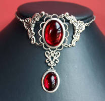Bloody Ruby Red choker by Pinkabsinthe