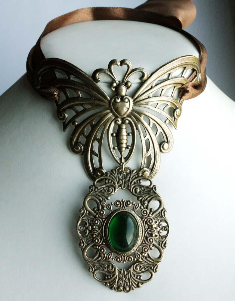 Butterfly choker by Pinkabsinthe