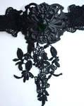 Black emerald neck corset