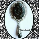 Black rose  brooch-pendant