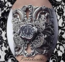 Gothic filigree watch by Pinkabsinthe