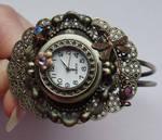 Purple dragonfly watch-cuff