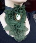 Victorian green Jabot