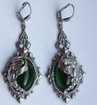Winged goddes earrings