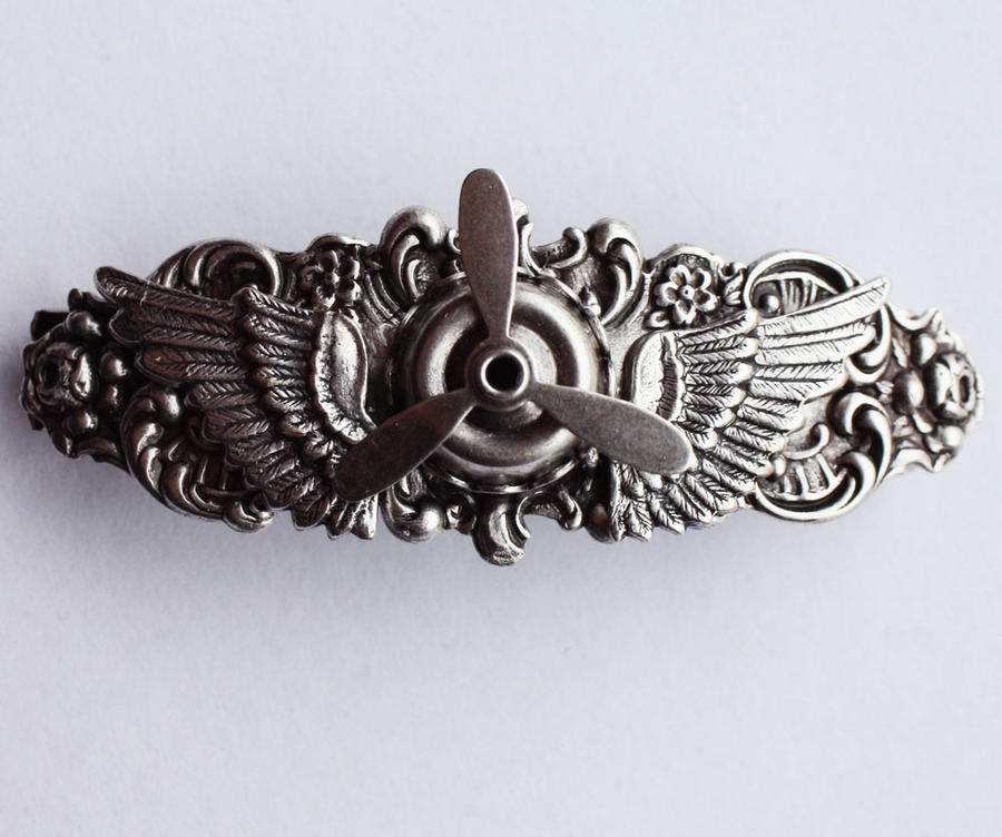 Steampunk propeller hair pin by Pinkabsinthe
