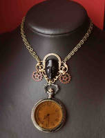 African steampunk Queen necklace 2 by Pinkabsinthe