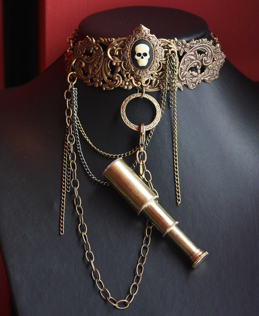 Pirate steampunk necklace by Pinkabsinthe