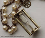 Steampunk Hour Glass necklace