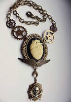 Anatomical steampunk necklace by Pinkabsinthe