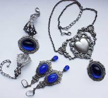 Sapphire blue set by Pinkabsinthe