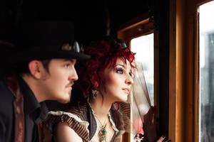 Steampunk wedding by Pinkabsinthe